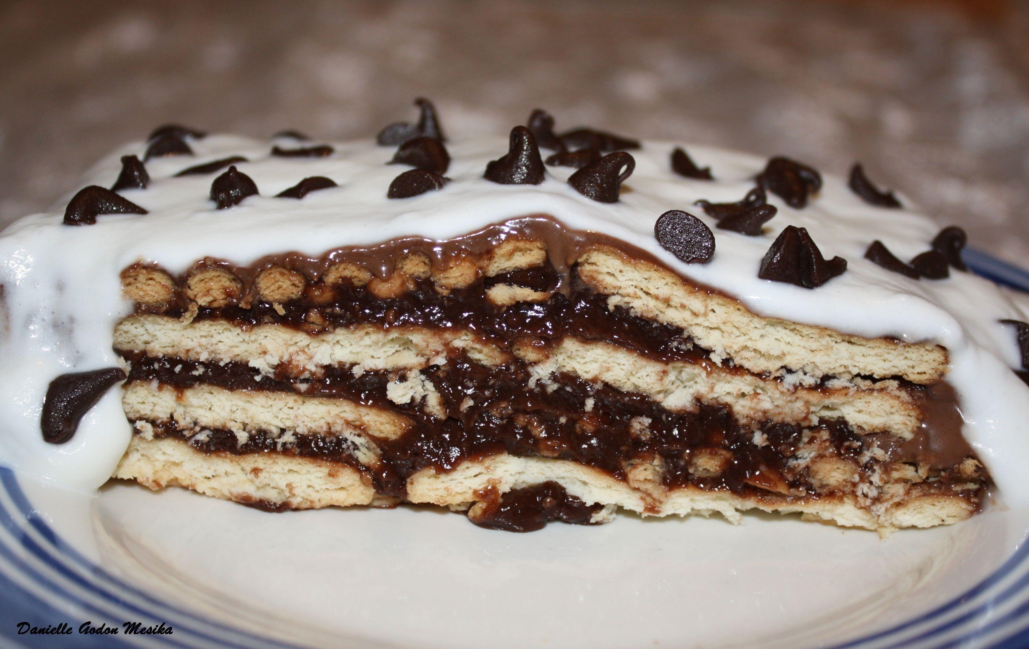 Gateau Au Petit Beurre Et Pudding Chocolat